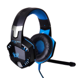 Diskon Produk Niceeshop Setiap G2000 Profesional Pc Laptop Lebih Telinga Headphone Stereo Gaming Headset With Mikrofon Permainan Cahaya Led Pameran Hitam Biru
