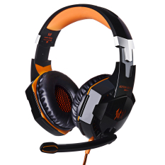 Beli Niceeshop Setiap G2000 Profesional Pc Laptop Lebih Telinga Headphone Stereo Gaming Headset With Mikrofon Permainan Cahaya Led Pameran Hitam Oranye Online Tiongkok