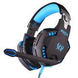 Toko Niceeshop Setiap G2100 Fungsi Pc Laptop Getaran Profesional Headphone Gaming Headset With Mikrofon Stereo Permainan Bass Cahaya Led Hitam Biru Each