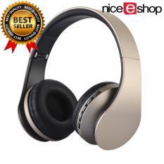 Jual Niceeshop Bluetooth Nirkabel Stereo Headphone Rops Edr Alat Pendengar Mikrofon Mp3 Fm Headset Untuk Ponsel Pintar Tablet Emas Hitam Online Tiongkok