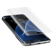 NiceEshop Samsung Galaxy S7 Edge Pelindung Layar untuk Penyembuhan Diri Anti Gores Bebas Menguning Film Penjaga Layar Melengkung