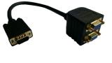 Berlapis Emas Vfa Hd15 Laki Laki Ke Perempuan X 2 1 Buah For 2 Monitor For Kabel Splitter Video Resolusi Tinggi 1920X1440 Hitam Niceeshop Asli
