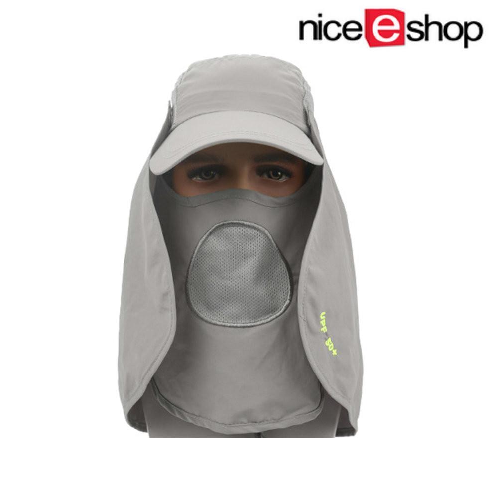 Toko Niceeshop Matahari Musim Panas Melindungi Leher Topeng Diproduksi Dengan Strip Baja Disket Mengebaskan Topi Helm Abu Abu Muda Yang Bisa Kredit