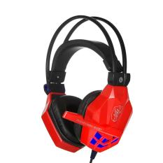 Jual Cepat Kedelai 850 3 5Mm Headphone For Game Permainan Headset And Headphone Bando With Lampu Led Mikrofon For Laptop Merah Niceeshop Internasional