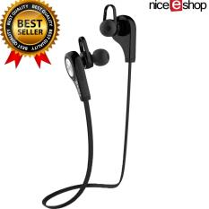 Harga Nice Eshop Wireless Bluetooth 4 1 Olahraga Headphone Stereo Headphone Di Telinga Earbud Hitam Online