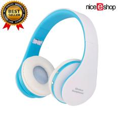 Ulasan Tentang Niceeshop Headphone Stereo Headset Bluetooth Pengadaan Lipat Alat Pendengar Biru And Putih