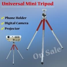 NIERBO MT86 Mini Tripod untuk Kamera Telepon Proyektor Ringan Panjang 13-27 Cm Beban Maksimum 1 Kg Merah- INTL