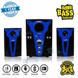 Toko Niko Slank Speaker Super Woofer Bomb Bass Technology Pengeras Suara Bluetooth Nk S2Bx Biru Terlengkap Indonesia