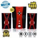 Niko Slank Speaker Super Woofer Bomb Bass Technology Pengeras Suara Bluetooth Nk M2Bx Merah Niko Diskon