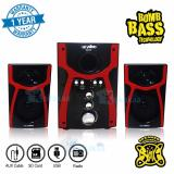 Review Terbaik Niko Slank Speaker Super Woofer Bomb Bass Technology Pengeras Suara Nk S1X Merah