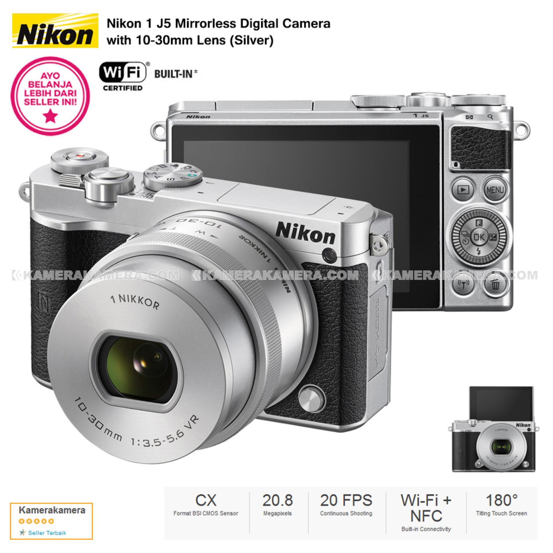 Perbandingan Harga Nikon 1 J5 Silver Wifi 4K Mirrorless Camera Vr 10 30Mm Lens Di Dki Jakarta