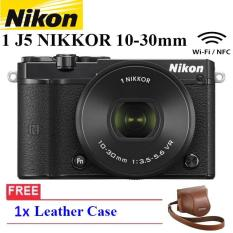 NIKON 1 J5 (BLACK) WiFi 4K Mirrorless Camera VR 10-30mm Lens Free Leather Case Garansi Resmi