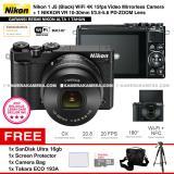 Review Toko Nikon 1 J5 Black Wifi 4K Mirrorless Camera Vr 10 30Mm Lens Resmi Nikon Alta Microsd Sandisk Ultra 16Gb Screen Protector Camera Bag Takara Eco 193A Online