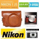 Beli Nikon 1 J5 Leather Bag Case Tas Kulit Kamera Mirrorless Coklat Muda Online