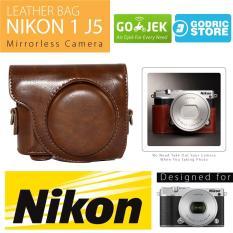 Nikon 1 J5 Leather Bag / Case / Tas Kulit Kamera Mirrorless - Coklat Tua