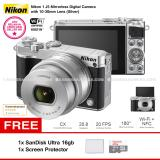Jual Nikon 1 J5 Silver Wifi 4K Mirrorless Camera Vr 10 30Mm Lens Microsd Sandisk Ultra 16Gb Screen Protector Nikon Murah