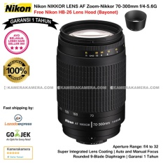 Nikon AF 70-300mm f/4-5.6G Nikkor (Garansi 1th) with Nikon HB-26 Lens Hood Bayonet original for Nikon DSLR