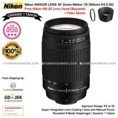 Nikon AF 70-300mm f/4-5.6G Nikkor (Garansi 1th) with Nikon HB-26 Lens Hood Bayonet original for Nikon DSLR Free Filter 62mm