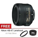 Miliki Segera Nikon Af S 50Mm F 1 8G Free Uv Filter 58Mm Dan Lenshood Hb 47