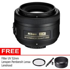 Nikon AF-S DX 35mm f/1.8G - Hitam (Free UV Filter 52mm + Lens Hood + Lenspen)