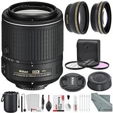 Nikon AF-S DX NIKKOR 55-200 Mm F/4-5.6G ED VR II Lensa dan Mewah bundel Aksesori dengan 52 Mm Lebar-Sudut & Telephoto Lensa + Xpix Lensa Handling Aksesoris-Internasional
