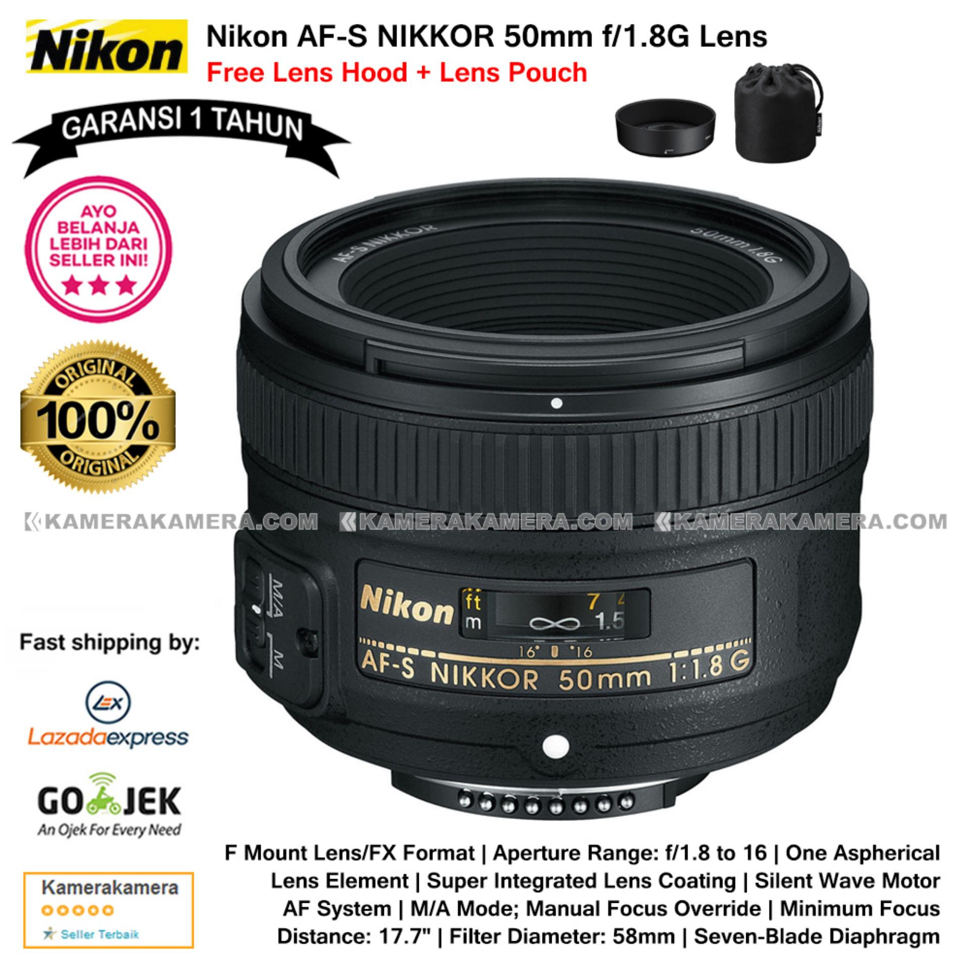 Review Nikon Af S Nikkor 50Mm F 1 8G Lens Garansi 1Th For Nikon Dslr Free Lens Hood Lens Pouch Original
