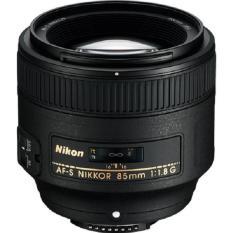 Nikon AF-S Nikkor 85mm f/1.8G Lensa - Hitam