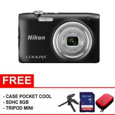 Nikon Coolpix A100 (Free SDHC 8GB + Mini Tripod + Case)