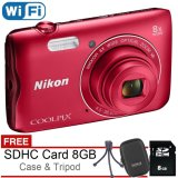 Harga Nikon Coolpix A300 Wifi 20Mp Free Sdhc 8Gb Case Mini Tripod Branded