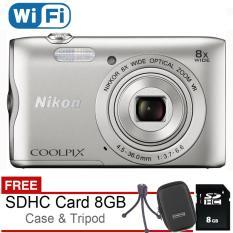 Katalog Nikon Coolpix A300 Wifi 20Mp Silver Free Sdhc 8Gb Case Mini Tripod Terbaru