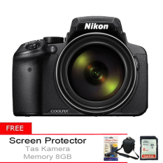 Nikon Coolpix P900 16Mp 83X Optical Zoom Hitam Gratis Tas Kamera Memory 8Gb Screen Protector Murah