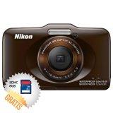 Harga Hemat Nikon Coolpix S31 10 1 Mp Cokelat Memori Sdhc 8 Gb