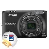 Jual Nikon Coolpix S6500 16 Mp Hitam Memori Sdhc 8 Gb Antik
