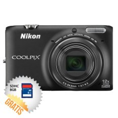 Harga Nikon Coolpix S6500 16 Mp Hitam Memori Sdhc 8 Gb Origin