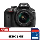 Harga Nikon D3400 Dslr Snapbridge Dan Bluetooth 24 2Mp Hitam Gratis Sdhc 8Gb Original