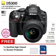 Toko Nikon D5300 Black Af P Dx Nikkor 18 55Mm F 3 5 5 6G Vr Kit Lens Wifi 24 2Mp 5Fps Full Hd Sandisk 8Gb Screen Protector Online Dki Jakarta