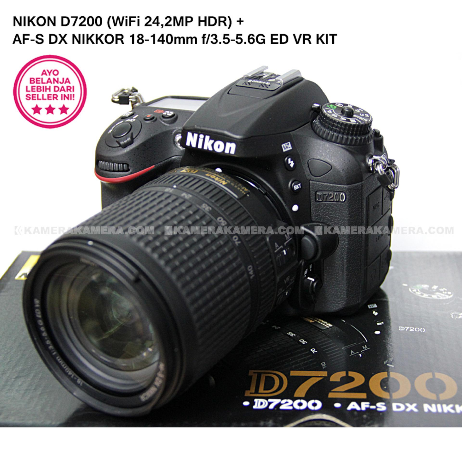 Harga Nikon D7200 Wifi 24 2Mp Hdr Af S Dx Nikkor 18 140Mm F 3 5 5 6G Ed Vr Kit Online