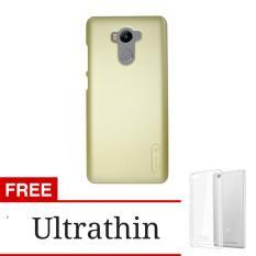 Nilkin Frosted Shield Back Cover Case For Xiaomi Redmi 4 Prime / 4 pro - Gold + Gratis Ultrathin