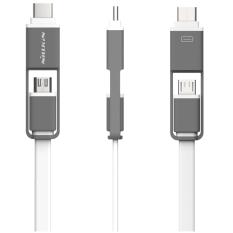 NILLKIN 1.2 M Plus Tipe C & Micro USB Kabel Pengisian Data untuk LG Nexus 6 P 5X Lumia 950 Meizufor Samsung S7 Catatan 5 (Putih) -Intl