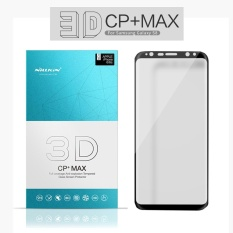 NILLKIN 9 H Anti Ledakan Film 3D Melengkung Edge Cakupan Penuh Tempered Glass Screen Protector untuk Samsung Galaxy S8 (hitam)