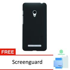 Nillkin 100% Original Asus Zenfone 5 Super Frosted Shield - Hitam Gratis Anti Gores