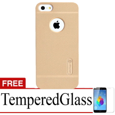 Nillkin Case for iPhone 5/5s Super Frosted Shield - Gold +Gratis Tempered Glass