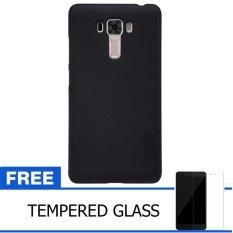 Nillkin For Asus ZenFone 3 Laser / ZC551KL Super Frosted Shield Hard Case Original - Hitam + Gratis Tempered Glass