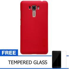 Nillkin For Asus ZenFone 3 Laser / ZC551KL Super Frosted Shield Hard Case Original - Merah + Gratis Tempered Glass