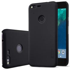 Nillkin For Google Pixel Super Frosted Shield Hard Case Original - Hitam + Gratis Anti Gores Clear