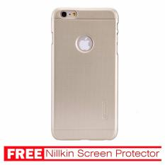 Nillkin For Iphone 6/6s Plus Super Frosted Shield Hard Case Original - Emas + Gratis Anti Gores Clear