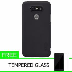 Nillkin For LG G5/LG H830 (5.3) Super Frosted Shield Hard Case Original - Hitam + Gratis Tempered Glass