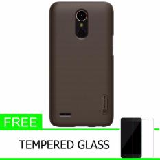 Nillkin For LG K10 2017 Super Frosted Shield Hard Case Original - Coklat + Gratis Tempered Glass