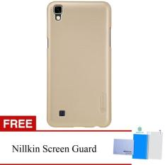 Nillkin For LG X POWER / K220Y Super Frosted Shield Hard Case Original - Emas + Gratis Anti Gores Clear