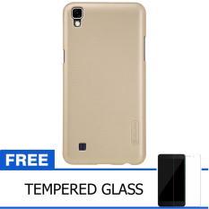 Nillkin For LG X Power / K220Y  Super Frosted Shield Hard Case Original - Emas + Gratis Tempered Gl